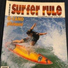 Coleccionismo deportivo: REVISTA DE SURF 'SURFER RULE', Nº 45. SEPTIEMBRE - OCTUBRE 1997. NUEVA.. Lote 195547851