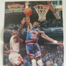 Coleccionismo deportivo: PÓSTER MICHAEL JORDAN VS. PAT EWING (GIGANTES DEL BASKET Nº 345 - JUN 1992). Lote 196104636