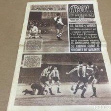 Coleccionismo deportivo: 28-11-1966 LIGA: ELCHE PONTEVEDRA - SABADELL ESPAÑOL - CORDOBA ZARAGOZA - HERCULES FCB RESTO JORNADA. Lote 196444975