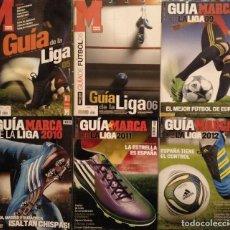 Coleccionismo deportivo: LIGA DE FÚTBOL PROFESIONAL (LFP) - LOTE DE SIETE GUÍAS DE ''MARCA'' (2004-05 A 2011-2012). Lote 197062086