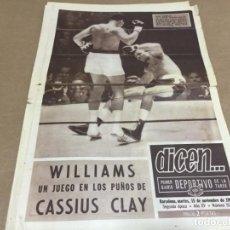 Coleccionismo deportivo: 15-11-1966 WILLIAMS VS CASSIUS CLAY / DUNDEE - BARCELONA. Lote 197095157