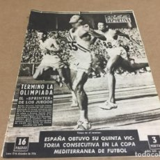 Coleccionismo deportivo: 10-12-1956 OLYMPICS: BOBBY MORROW PATTERSON / BARCELONA - HONVED / MEDITERRANEAN: SPAIN. Lote 197095650