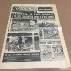 Coleccionismo deportivo: 15-5-1972 VALENCIA SUBCAMPEON - REAL SOCIEDAD / REAL MADRID CAMPEON DE LIGA. Lote 197170748