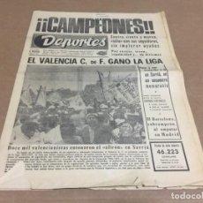 Coleccionismo deportivo: 19-4-1971 VALENCIA CAMPEON DE LIGA 1970-71 : ESPAÑOL - VALENCIA . Lote 197170882