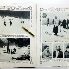 Coleccionismo deportivo: RETAL CLUB ALPINO DE MADRID, SKIS EN EL GUADARRAMA- AMANTES TERUEL ARTE. BLANCO Y NEGRO 3/3/1912. Lote 197503712