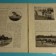 Coleccionismo deportivo: ARTÍCULO EL CONCURSO HÍPICO DE MADRID POR RUBRYK. 1927. . Lote 198207185