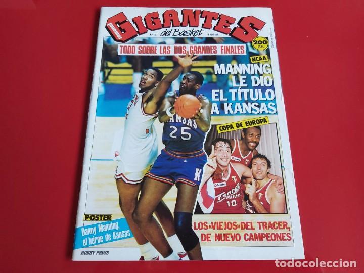 REVISTA BALONCESTO GIGANTES DEL BASKET Nº128 -POSTER DANNY MANNING(KANSAS)-1988 --RB1 (Coleccionismo Deportivo - Revistas y Periódicos - otros Deportes)
