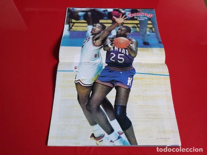 Coleccionismo deportivo: REVISTA BALONCESTO GIGANTES DEL BASKET Nº128 -POSTER DANNY MANNING(KANSAS)-1988 --RB1 - Foto 2 - 198470420