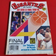 Coleccionismo deportivo: REVISTA BALONCESTO GIGANTES DEL BASKET Nº232 -POSTER RAM JOVENTUT CAMPEON DE LA KORAC-1990 --RB1. Lote 198475125