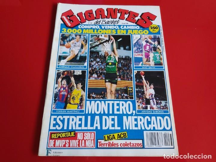 REVISTA BALONCESTO GIGANTES DEL BASKET Nº233 -POSTER K.ANDERSON(GEORGIA) Y ANTHONY(NEVADA-1990 --RB1 (Coleccionismo Deportivo - Revistas y Periódicos - otros Deportes)