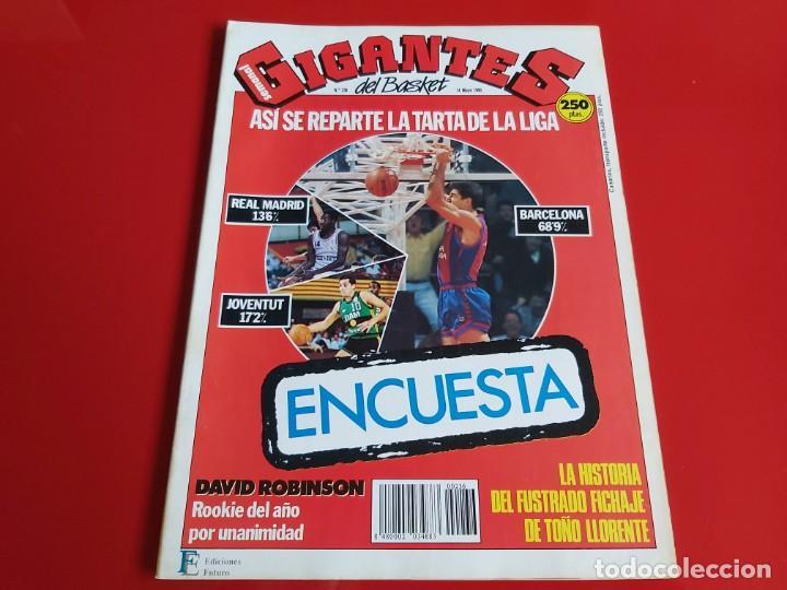 REVISTA BALONCESTO GIGANTES DEL BASKET Nº236 - POSTER DAVID ROBINSON(SAN ANTONIO SPURS)-1990--RB1 (Coleccionismo Deportivo - Revistas y Periódicos - otros Deportes)