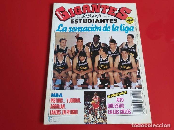 REVISTA BALONCESTO GIGANTES DEL BASKET Nº237 - POSTER ALBERTO HERREROS(ESTUDIANTES)-1990--RB1 (Coleccionismo Deportivo - Revistas y Periódicos - otros Deportes)