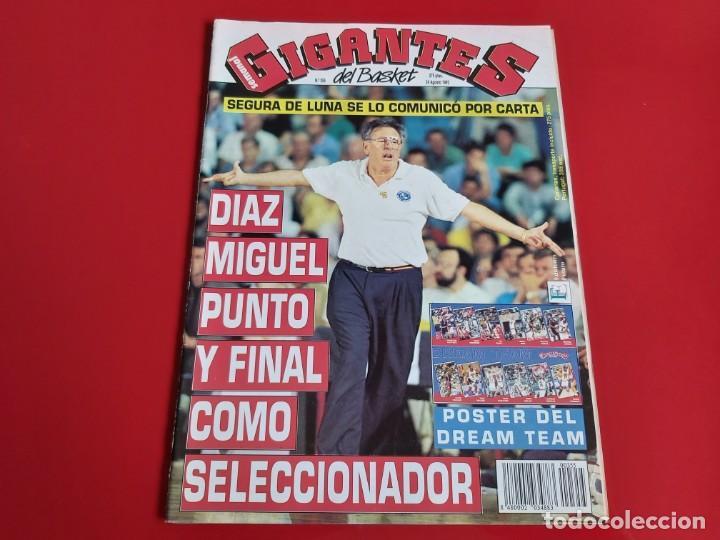 REVISTA BALONCESTO GIGANTES DEL BASKET Nº355 - POSTER DREAM TEAM BARCELONA 92--1992--RB1 (Coleccionismo Deportivo - Revistas y Periódicos - otros Deportes)