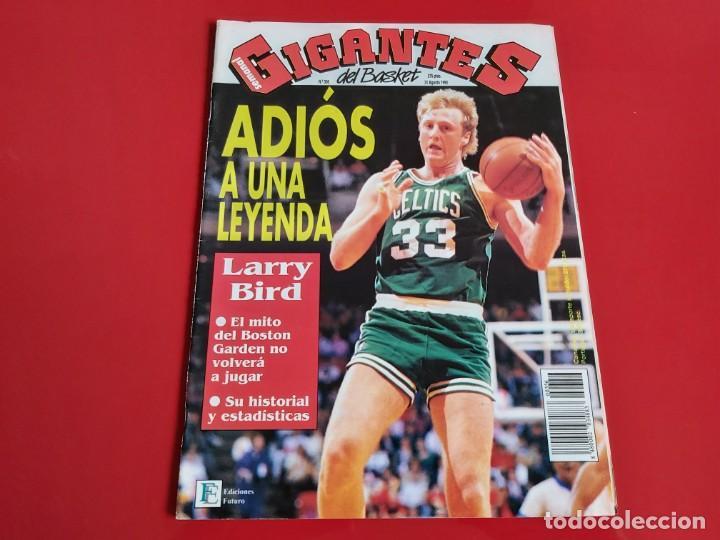REVISTA BALONCESTO GIGANTES DEL BASKET Nº356 - POSTER ARVIDAS SABONIS--RETIRADA L.BIRD --1992--RB1 (Coleccionismo Deportivo - Revistas y Periódicos - otros Deportes)