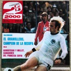 Coleccionismo deportivo: REVISTA DEPORTE 2000 - N° 88 (MAYO 1976) - BALONMANO EL GRANOLLERS CAMPEÓN RECOPA - BALONCESTO. Lote 198486090