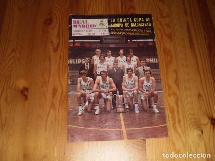 REVISTA REAL MADRID MAYO 1974 Nº 288 LA QUINTA COPA DE EUROPA DE BALONCESTO (Coleccionismo Deportivo - Revistas y Periódicos - otros Deportes)