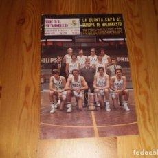 Coleccionismo deportivo: REVISTA REAL MADRID MAYO 1974 Nº 288 LA QUINTA COPA DE EUROPA DE BALONCESTO. Lote 199460136