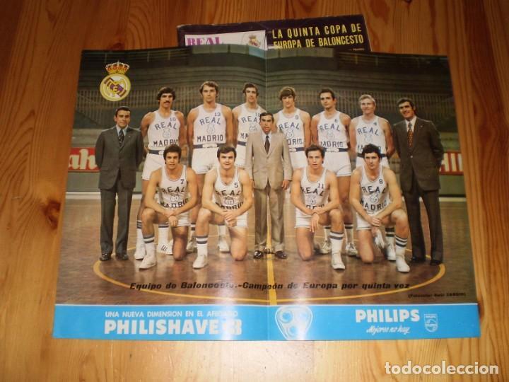 Coleccionismo deportivo: revista real madrid mayo 1974 nº 288 la quinta copa de europa de baloncesto - Foto 2 - 199460136