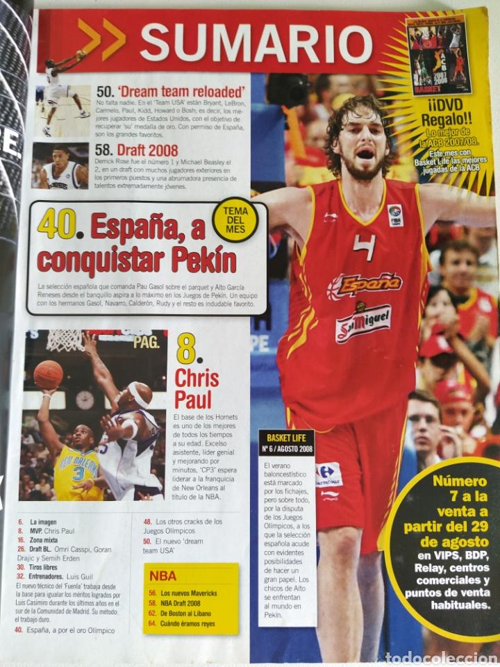 Coleccionismo deportivo: BASKET LIFE Nº 6 (2008) ESPAÑA A CONQUISTAR EL OLIMPO - Con DVD - Foto 11 - 182763266