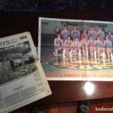Coleccionismo deportivo: BALONCESTO CAJA BILBAO ASCENSO PERIÓDICO Y PÓSTER ESPECIAL DEIA 1992. Lote 200604415