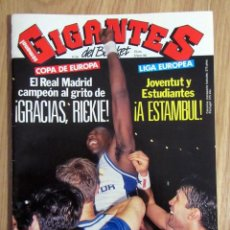 Coleccionismo deportivo: REVISTA GIGANTES DEL BASKET Nº 334 1992 REAL MADRID CAMPEON COPA DE EUROPA 92 POSTER JOHNSON SUNS. Lote 201969427