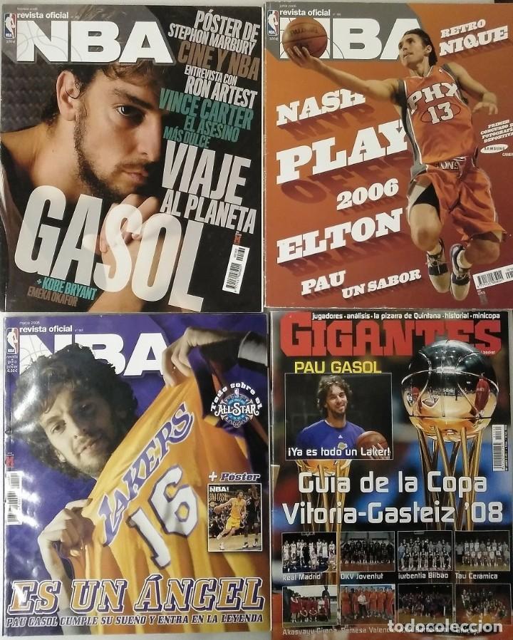 Coleccionismo deportivo: Pau Gasol - 17 revistas Gigantes del Basket y Revista Oficial NBA (2000-2009) - NBA - Foto 9 - 130455458
