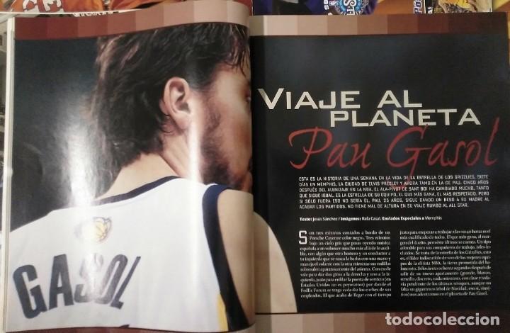 Coleccionismo deportivo: Pau Gasol - 17 revistas Gigantes del Basket y Revista Oficial NBA (2000-2009) - NBA - Foto 10 - 130455458