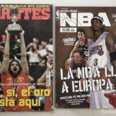 Coleccionismo deportivo: REVISTAS ''GIGANTES DEL BASKET'' Y ''REVISTA OFICIAL NBA'' (2006) - ESPAÑA, CAMPEONA DEL MUNDO. Lote 203307301