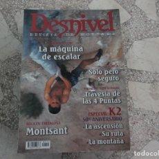 Coleccionismo deportivo: DESNIVEL Nº 213, ROCA EN TARRAGONA EL MONTSANT, ESPECIAL K2 50 ANIVERSARIO, PIRINEOS TRAVES VER FOTO. Lote 263066890
