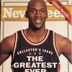 Coleccionismo deportivo: MICHAEL JORDAN - REVISTA ''NEWSWEEK'' (ESPECIAL RETIRADA DE 1993) - NBA - CON PÓSTER. Lote 204371425
