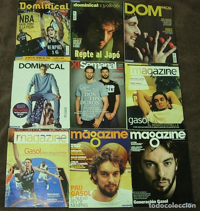 LOTE DE 9 REVISTAS PAU GASOL EN PORTADA 2001-2011 ARTÍCULOS ENTREVISTAS NBA (Coleccionismo Deportivo - Revistas y Periódicos - otros Deportes)