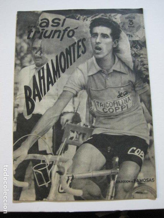 BAHAMONTES-CICLISTA-ASÍ TRIUNFO-REVISTA ANTIGUA DE CICLISMO-VER FOTOS-(V-20.078) (Coleccionismo Deportivo - Revistas y Periódicos - otros Deportes)