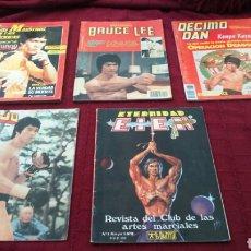 Coleccionismo deportivo: BRUCE LEE -LOTE DE REVISTAS ARTES MARCIALES, KARATE ,CINTURÓN NEGRO LOS MAESTROS Y SUS TÉCNICAS. Lote 204760722