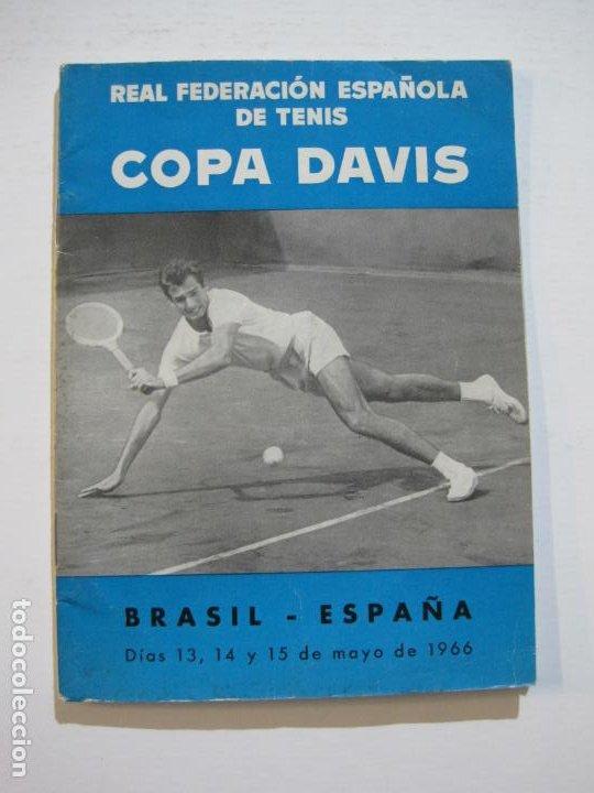 Coleccionismo deportivo: TENIS-REAL FEDERACION ESPAÑOLA COPA DAVIS-BRASIL VS ESPAÑA-AÑO 1966-VER FOTOS-(V-20.167) - Foto 2 - 205023638