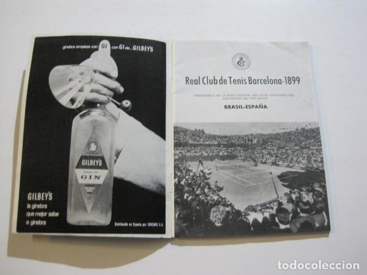 Coleccionismo deportivo: TENIS-REAL FEDERACION ESPAÑOLA COPA DAVIS-BRASIL VS ESPAÑA-AÑO 1966-VER FOTOS-(V-20.167) - Foto 3 - 205023638