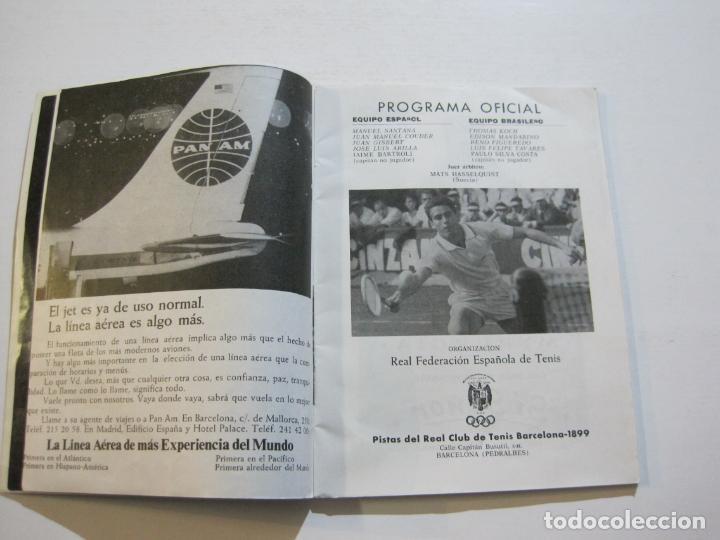 Coleccionismo deportivo: TENIS-REAL FEDERACION ESPAÑOLA COPA DAVIS-BRASIL VS ESPAÑA-AÑO 1966-VER FOTOS-(V-20.167) - Foto 4 - 205023638
