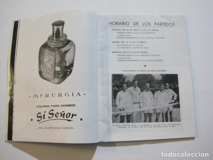 Coleccionismo deportivo: TENIS-REAL FEDERACION ESPAÑOLA COPA DAVIS-BRASIL VS ESPAÑA-AÑO 1966-VER FOTOS-(V-20.167) - Foto 5 - 205023638