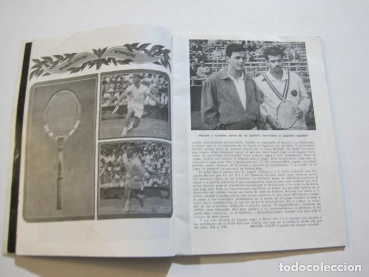 Coleccionismo deportivo: TENIS-REAL FEDERACION ESPAÑOLA COPA DAVIS-BRASIL VS ESPAÑA-AÑO 1966-VER FOTOS-(V-20.167) - Foto 7 - 205023638