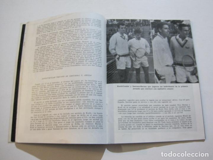 Coleccionismo deportivo: TENIS-REAL FEDERACION ESPAÑOLA COPA DAVIS-BRASIL VS ESPAÑA-AÑO 1966-VER FOTOS-(V-20.167) - Foto 10 - 205023638