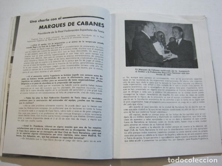 Coleccionismo deportivo: TENIS-REAL FEDERACION ESPAÑOLA COPA DAVIS-BRASIL VS ESPAÑA-AÑO 1966-VER FOTOS-(V-20.167) - Foto 11 - 205023638