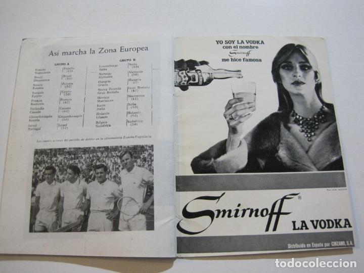 Coleccionismo deportivo: TENIS-REAL FEDERACION ESPAÑOLA COPA DAVIS-BRASIL VS ESPAÑA-AÑO 1966-VER FOTOS-(V-20.167) - Foto 14 - 205023638