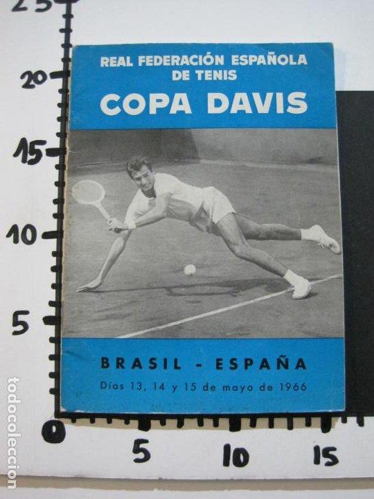 Coleccionismo deportivo: TENIS-REAL FEDERACION ESPAÑOLA COPA DAVIS-BRASIL VS ESPAÑA-AÑO 1966-VER FOTOS-(V-20.167) - Foto 16 - 205023638