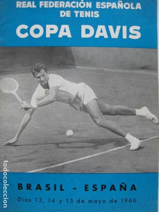 TENIS-REAL FEDERACION ESPAÑOLA COPA DAVIS-BRASIL VS ESPAÑA-AÑO 1966-VER FOTOS-(V-20.167) (Coleccionismo Deportivo - Revistas y Periódicos - otros Deportes)