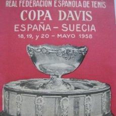 Coleccionismo deportivo: TENIS-REAL FEDERACION ESPAÑOLA COPA DAVIS-SUECIA VS ESPAÑA-AÑO 1958-VER FOTOS-(V-20.168). Lote 205023983