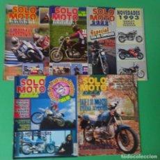 Coleccionismo deportivo: LOTE 5 REVISTAS SOLO MOTO ACTUAL - AÑOS 90 ,VER FOTOS. Lote 205118825