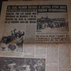 Coleccionismo deportivo: REAL MADRID CAMPEON DE LA COPA DEL MUNDO 1956. Lote 205753476