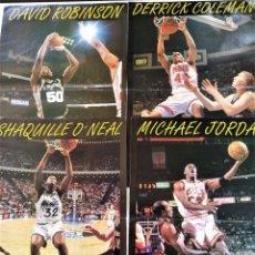Coleccionismo deportivo: PÓSTERS LOS MVP DE LA NBA - JORDAN / SHAQUILLE / ROBINSON / COLEMAN ~ REVISTA SUPERBASKET. Lote 206587491