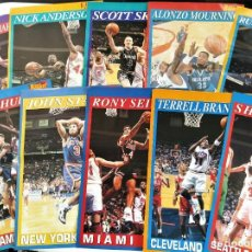 Coleccionismo deportivo: 10 PÓSTERS NBA (REVISTA SUPERBASKET) - KEMP, BRANDON, STARKS, MOURNING, HARDAWAY, SEIKALY, ROBINSON. Lote 206588023