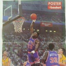 Coleccionismo deportivo: PÓSTER PAT EWING OPEN MCDONALD ~ REVISTA DON BASKET (1990). Lote 206589495