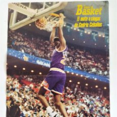 Coleccionismo deportivo: PÓSTER NBA - EL MATE A CIEGAS DE CEDRIC CEBALLOS (CAMPEÓN SLAM DUNK) ~ REVISTA SUPERBASKET (1992). Lote 206589901